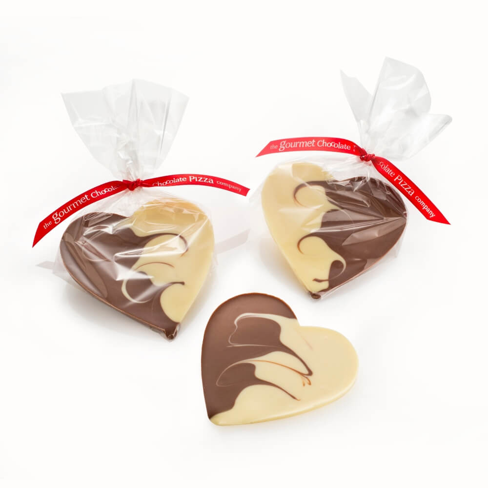 New for Valentine's Day 2020, our Milk and White Chocolate Hearts look and taste beautiful.