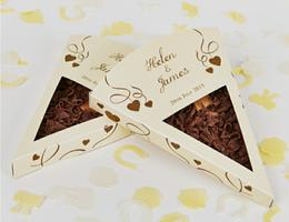 Personalised Wedding Chocolate Pizza Slices