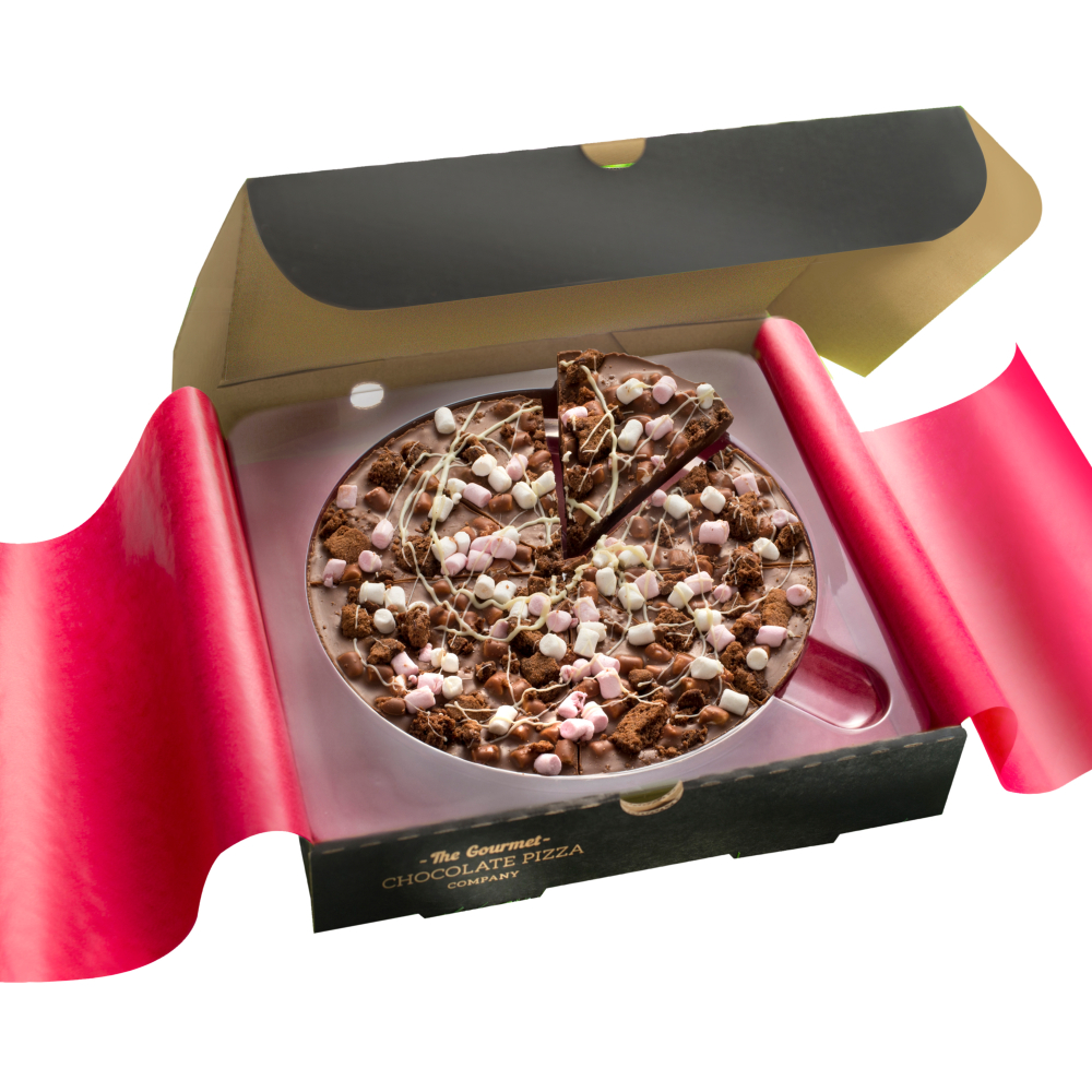 Rocky Road 7 inch Chocolate Pizza