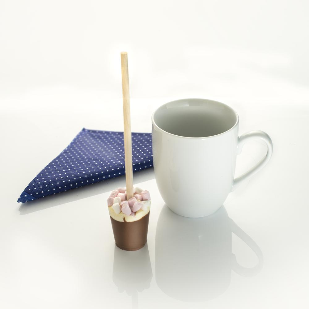 Indulge in one of our Marshmallow Hot Chocolate Sticks