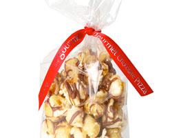 Chocolate Drizzled Popcorn