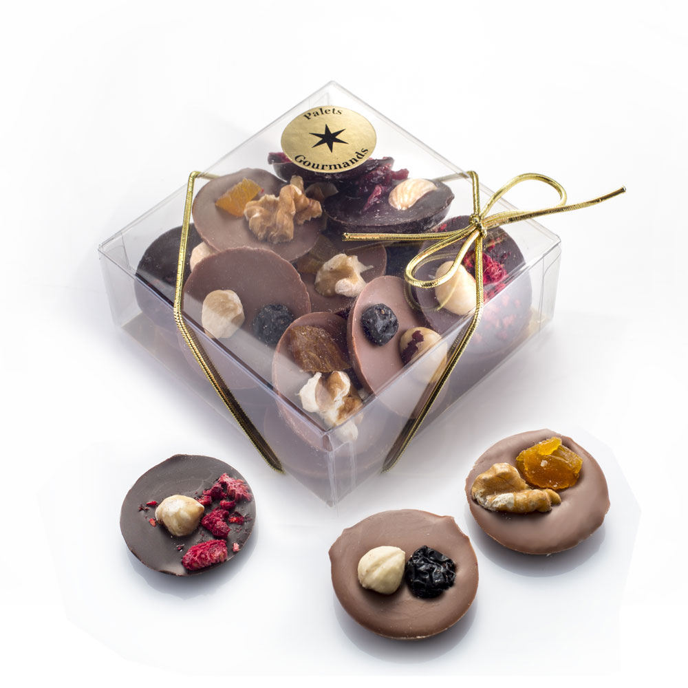 Belgian chocolate fruit and nut buttons